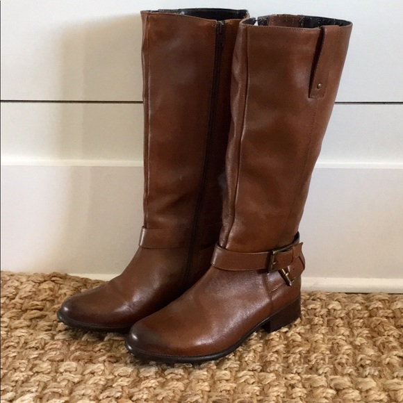 5bac3f5f45e528 Clarks Shoes   Womens Brown Leather Riding Boots   Poshmark